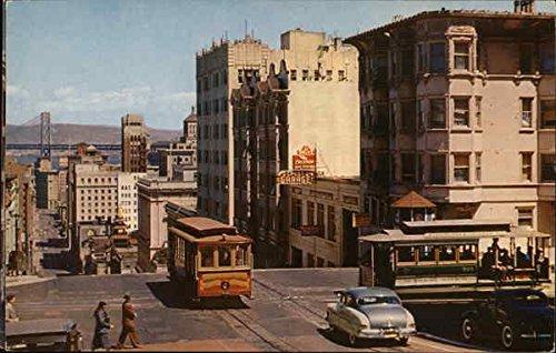 Looking Down California Street - Cable Car San Francisco Original Vintage -
