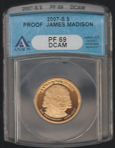 2007 S James Madison Presidential (2007-2016) $1 PF-69 ANACS ()