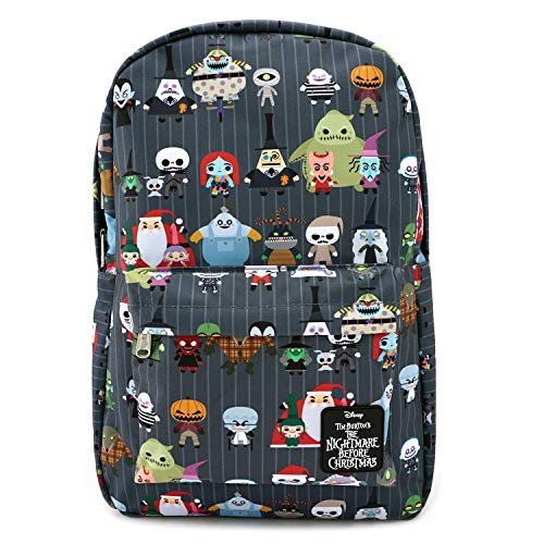 Loungefly x Nightmare Before Christmas Chibi Character Nylon Backpack (One Size, Multi)]()