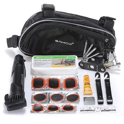 MECO(TM) Bike Bicycle Cycling Tire Tyre Repair Maintenance Tools Mini Pump Kits Bag