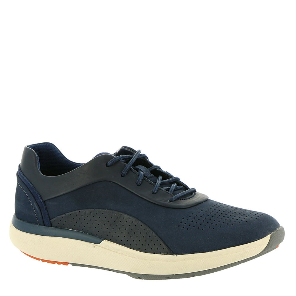 CLARKS Womens Un Cruise Lace Sneaker B0778TSJ9T 9.5 B(M) US|Navy Nuback/Leather Combi