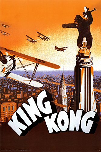 King Kong Movies Poster Print, 24x36 Poster Print, 24x36