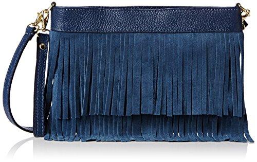 Girly HandBags Gina - Bolso bandolera Mujer Azul - azul (Navy)