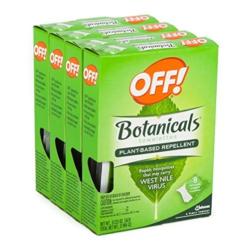 32ct Off Botanicals Towelettes Wipes Natural Insect Mosquito West Nile Repellent -