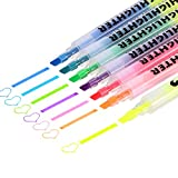 #1: Mtlee 7 Colors Dual Tips Permanent Art Markers Highlighter Study Kit, 1-4 mm for Drawing Sketching Highlighting and Underlining 6 Pieces