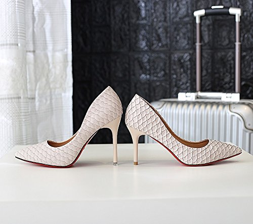 Lady 10Cm Pointed MDRW Fine Apricot Elegant Shoes Heeled Match Spring All Sexy Work High Work Leisure Interview Shoes 35 With dqCwv1
