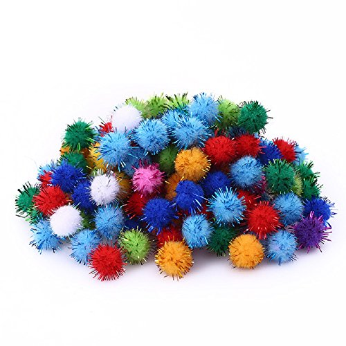 KOIPLUS Assorted Color Sparkling Balls My Cats All-Time Favorite Toy, 20 Pieces