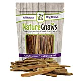 Nature Gnaws Extra Thin Bully Sticks 5-6'' (25 Pack) - 100% All-Natural Grass-Fed Free-Range Premium Beef Dog Chews