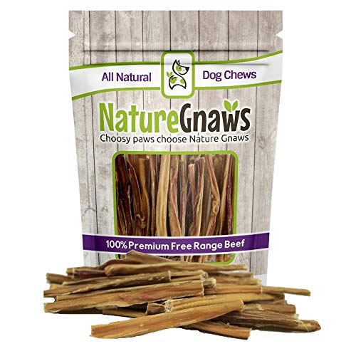 Nature Gnaws Extra Thin Bully Sticks 5-6'' (25 Pack) - 100% All-Natural Grass-Fed Free-Range Premium Beef Dog Chews by Nature Gnaws