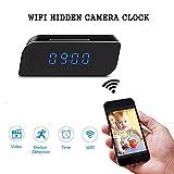 MNGREATS WIFI Spy Camera Alarm Clock Network IP HD 1080P Motion