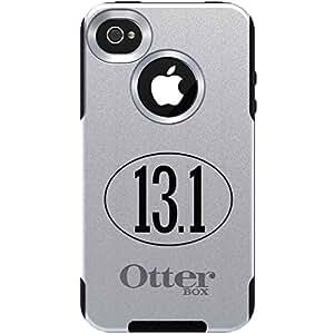 Custom OtterBox Commuter Series Case for Apple iPhone 4 4S - White 13.1 Oval Half Marathon Run