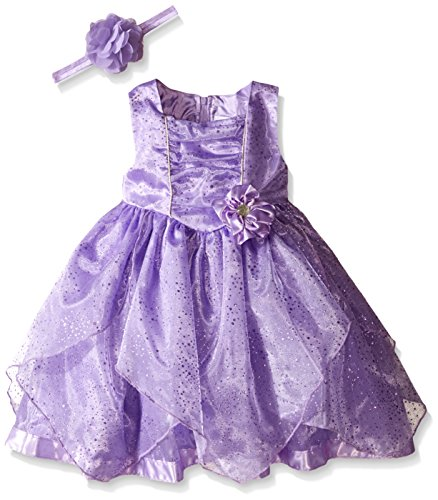 Disney Little Girls' Sofia The First Special Occasion Dress and Headband, Purple, -