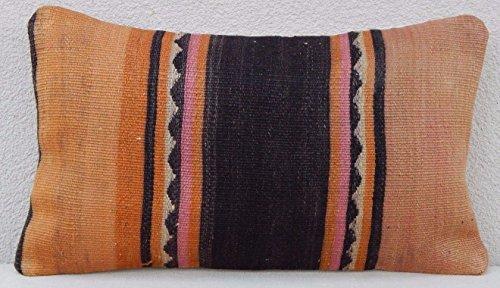 Rectangular Turkish Kilim Pillow Sham Kelim Rug Sofa Couch T