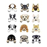 12 Pcs Dog Iron On Patches Embroidered Appliques...