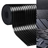 casa pura Rubber Floor Mat – Anti Slip Rubber Sheet | Suitable as Garage Floor Mat, Horse Stall Mat or Workbench Mat | Many Sizes to Choose from | Wide Ribbed | 1/4'' Thick - 40'' x 4'