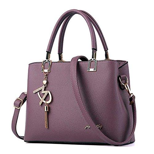 Womens Purses and Handbags Shoulder Bags Ladies Designer Top Handle Satchel Tote Bag (Violet)