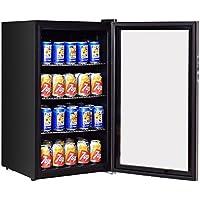K&A Company Can Beverage Cooler Refrigerator 120 Stainless Bottle Steel Center Wine Glass Door Fridge New