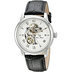 Lucien Piccard Men's LP-12524-02 Optima Stainless Steel Watch with Black Band