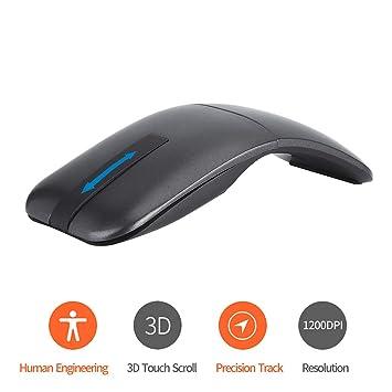 SSSLG 2.4 G Bluetooth de Doble Modo Ultra-Delgado ratón táctil inalámbrico, Mini ratón