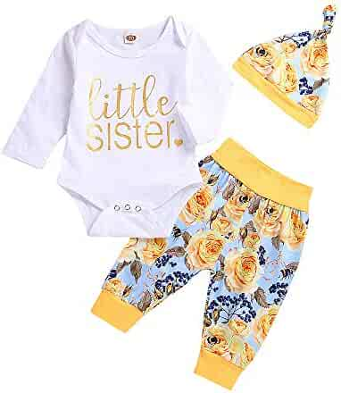 c5d393aad0be Iuhan Clearance 0-18Month Newborn Baby Rainbow Romper Tops Pants Hat 3PC  Outfits Set Iuhan