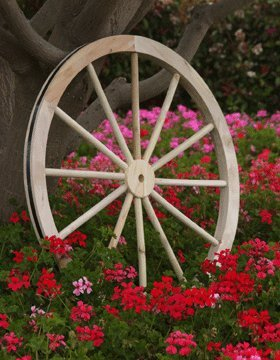 36u0026quot; Decorative Cedar Wood Wagon Wheel