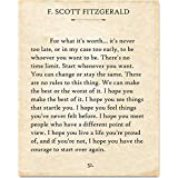 F. Scott Fitzgerald - For What It's Worth. - 11x14 Unframed Typography Book Page Print - Makes a Great Gift Under $15 for Book Lovers