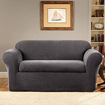 New Sure Fit Stretch Metro 2 Piece Loveseat Slipcover Gray SF Style - Lovely sure fit waterproof sofa cover Idea