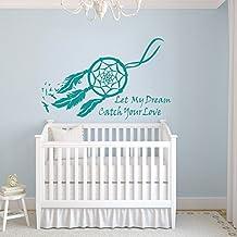 Vinyl Dream Catcher Decal Native American Dream Wall Sticker Nursery Wall Graphic Home Art Decoration Teal
