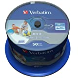 Verbatim 43812 25 GB 6 x BD-R SL Datalife Tintenstrahldrucker - 50 Packung Spindel