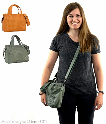"Gusti Cuir studio ""Sunny S"" cabas en cuir sac bandoulière en cuir sac à main en cuir homme femme cuir de chèvre vert 2H47-29-5"