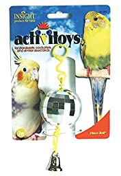 JW Pet Company Activitoy Disco Ball Small Bird Toy, Colors Vary