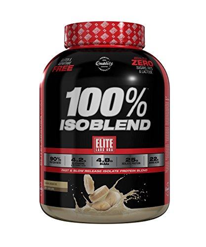 Elite Labs USA 100% ISOBLEND 4.02 LBS BANANA CREAM - Protein Powder Pie Cream Banana