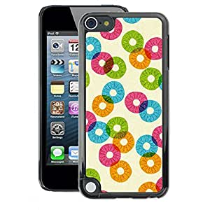 A-type Arte & diseño plástico duro Fundas Cover Cubre Hard Case Cover para Apple iPod Touch 5 (Pineapple Pattern Abstract Orange Teal)