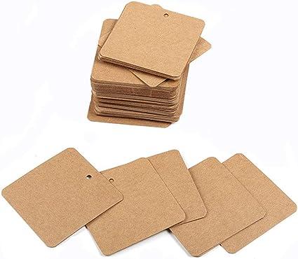 etiqueta para colgar ropa con cuerda de c/á/ñamo 4 x 9 cm boda Zerodis 200 etiquetas de papel kraft para regalo de fiesta