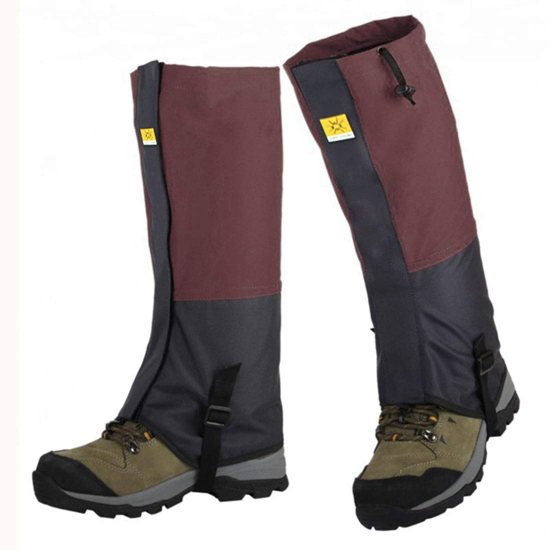 Freahap Leg Gaiters Windproof Snow Gaiters Nylon Boot Gaiters Mudproof Shoes Covers for Hiking Backpacking Cycling
