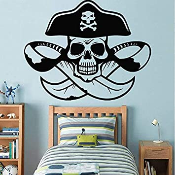 Amazon.com: Pegatinas de pared piratas para habitación de ...