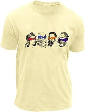 Adult Teenage Mutant Ninja Turtles Real Artists and Face Masks Cream T-Shirt Tee