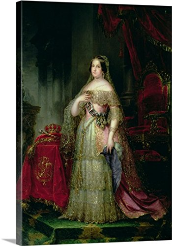 Queen Isabella II (1830-1904) of Spain (oil on canvas) Gallery-Wrapped Canvas by greatBIGcanvas