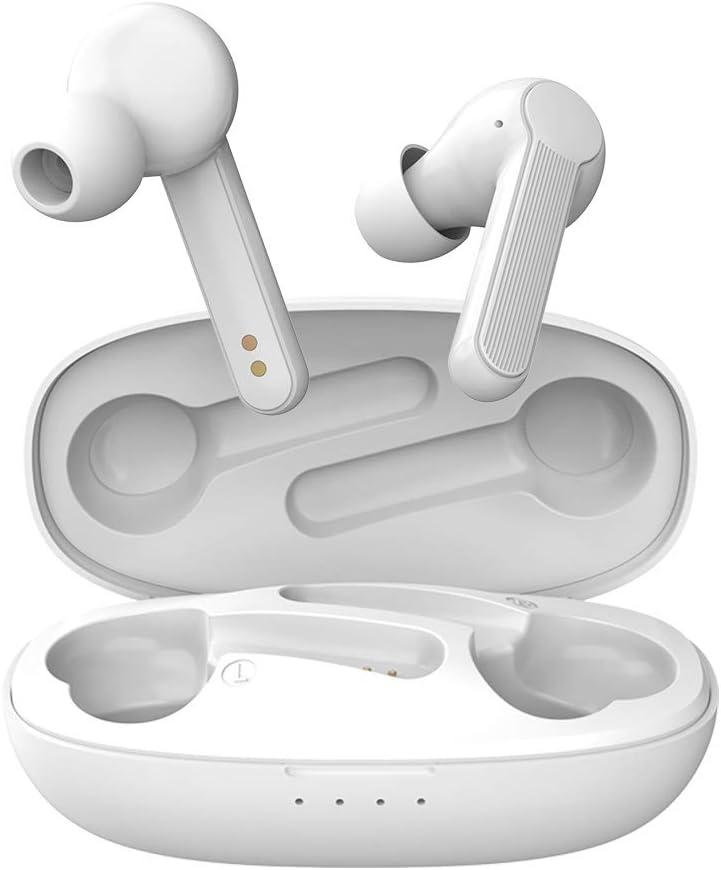 Auriculares Inalambricos Bluetooth, iAmotus Cascos Inalámbricos Bluetooth HiFi Mini Twins Sonido Estéreo In-Ear con Control Táctil, 40 Horas Reproducción para Teléfono Celular/Running/Android/iOS