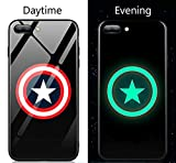 america phone case - Captain Super Hero America Luminous Fashion Luxury Tempered Glass Hybrid Case for iPhone X 7 8 6 6s Plus (Style 8, iPhone 7 8 Plus)