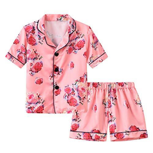 Sunnymi Kledingset voor baby's, meisjes, 1-6 jaar, kleine kinderen, baby, meisjes, bloemen, pyjama, nachtkleding, T…