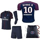 Vivishop PSG Neymar Kid Youth 2017/18 17 2018 PSG Neymar Paris Saint Germaine REPLICA Home, Away Third Jersey Kit plus Soccer Bag Ages 2-12