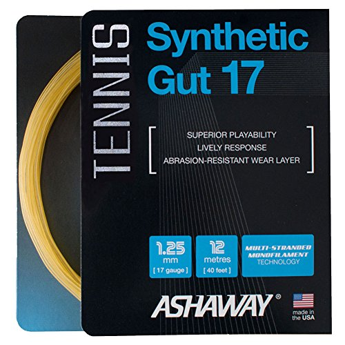 ASHAWAY Synthetic Gut 17G Tennis String Gold (Gold)