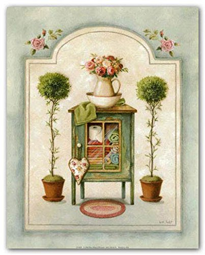 Washstand by Lisa Audit~French Country Bath Topiaries 11