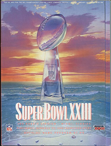 1989 Super Bowl XXIII Program. 49ers VS Bengals from Brigandi Coins and Collectibles