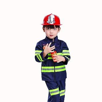 offizieller Verkauf genießen Sie besten Preis Qualität zuerst Proumhang Feuerwehr-Kostüm Kinderkostüm Feuerwehrmann Kinder Feuerwehrmann  Fasching Karneval Blau