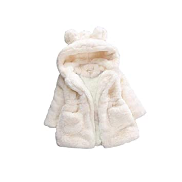 myonly - Abrigo de Invierno para bebé, diseño de Orejas de Conejo, algodón,