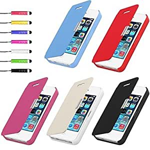 LZX PU Leather Case & Touch Pen for iPhone 4/4S , Black