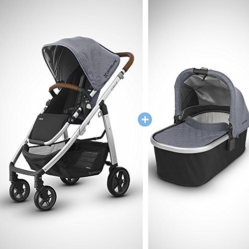 UPPAbaby Full-Size Cruz Infant Baby Stroller & Bassinet Bundle (Gregory)