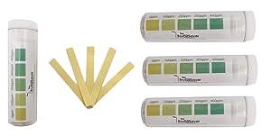 FryOilSaver Co, Quat Strips Pack of 4 x Vials, Restaurant Grade Quaternary Ammonium Sanitizer Strips, Precision QAC QR5, 0-400ppm Multi Quat Strips for Food Service, 4 x Vials of 100 Strips Each